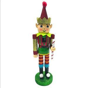 🆕 Glitter Elf Nutcracker, 3 3/4in x 12in Fabric